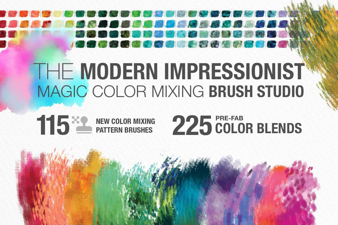 Impressionist Color Blending Photoshop Brushes cover image