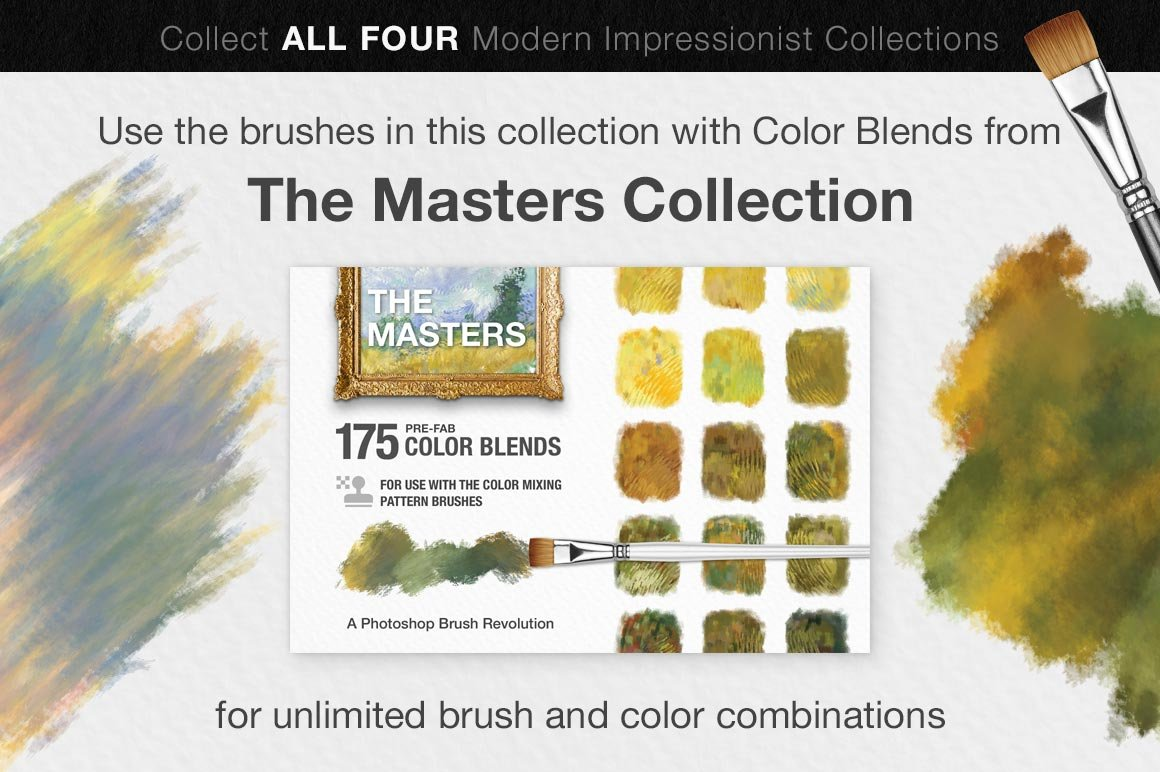 Impressionist Color Blending Photoshop Brushes, old masters collection
