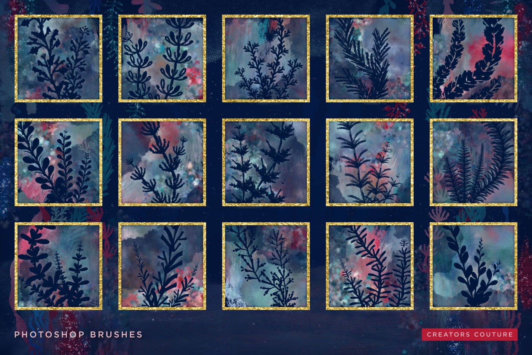 Undersea Dreams: Seaweed and Coral Photoshop Brushes - Creators Couture