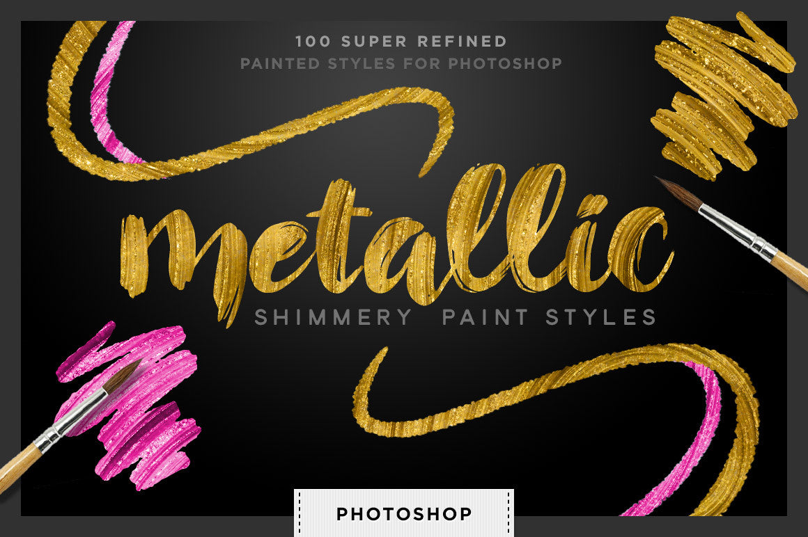 Shimmery Swirls: Metallic Styles for Photoshop - Creators Couture