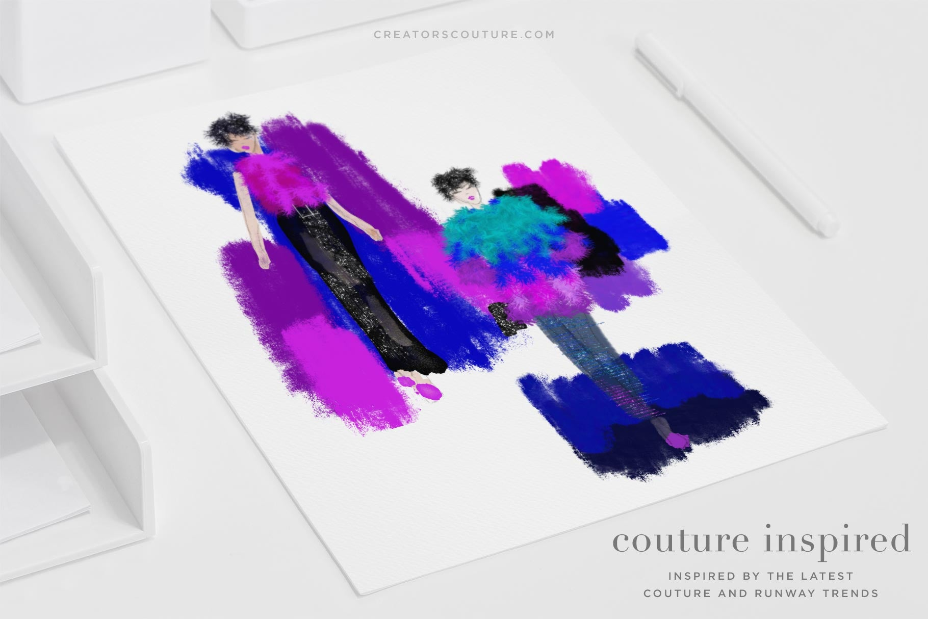 Glam Pop Couture Inspired Glittery Backgrounds - Creators Couture