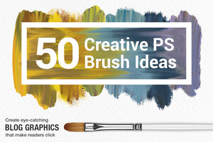 Wet Paint Photoshop Color-Blending Mixer Brushes, create painted blog graphics