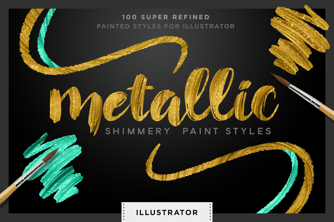 Shimmery Swirls: Metallic Styles for Adobe Illustrator - Creators Couture