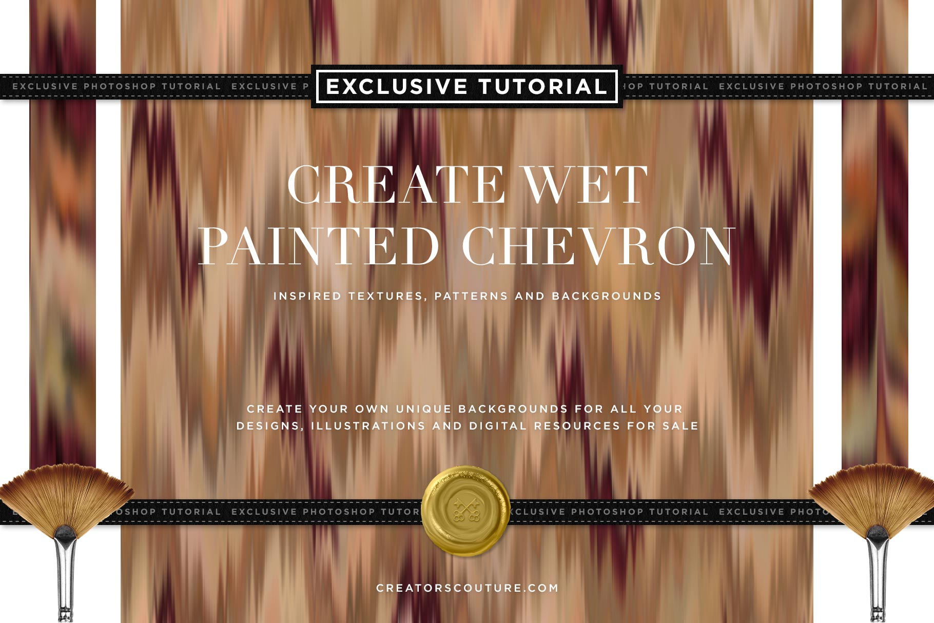 Exclusive Tutorial: Create Wet Painted Chevron Inspired Textures, Patterns and Backgrounds - Creators Couture