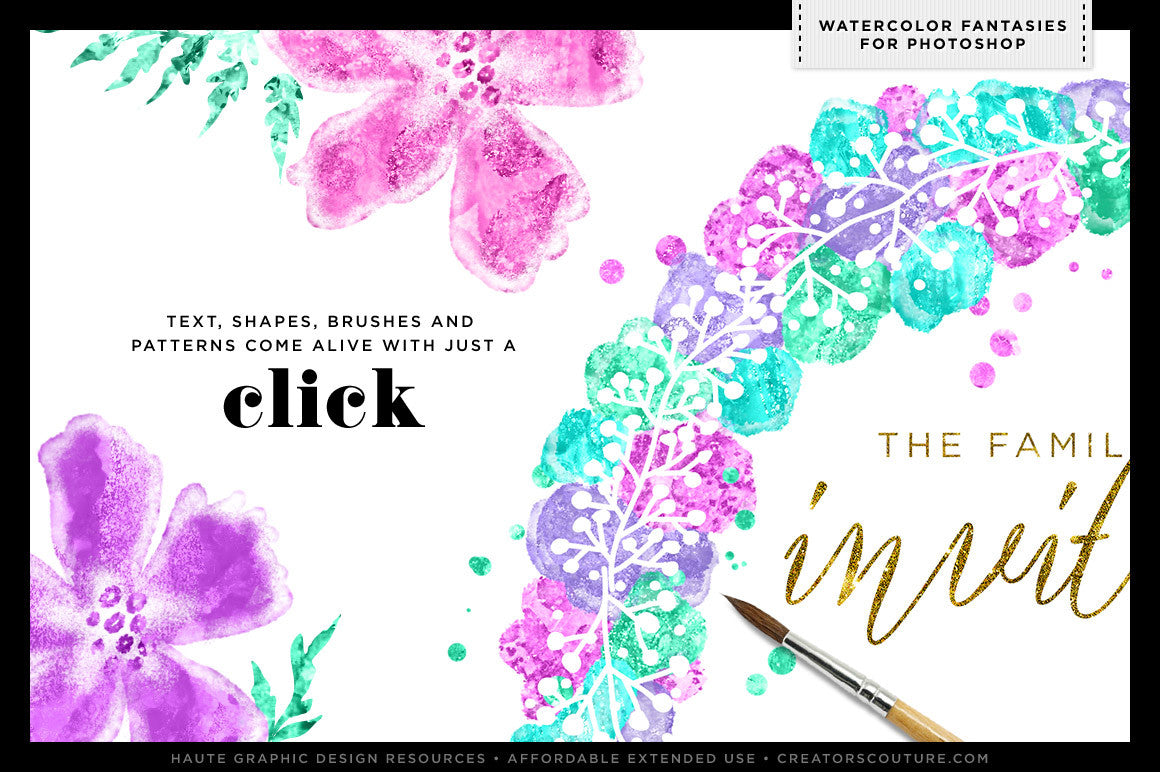 Watercolor Fantasies for Adobe Photoshop - Creators Couture