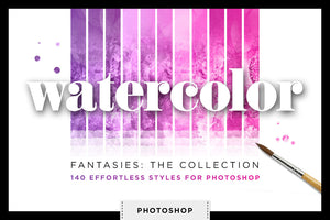 Watercolor Fantasies: Shimmery Watercolor Styles for Photoshop cover image