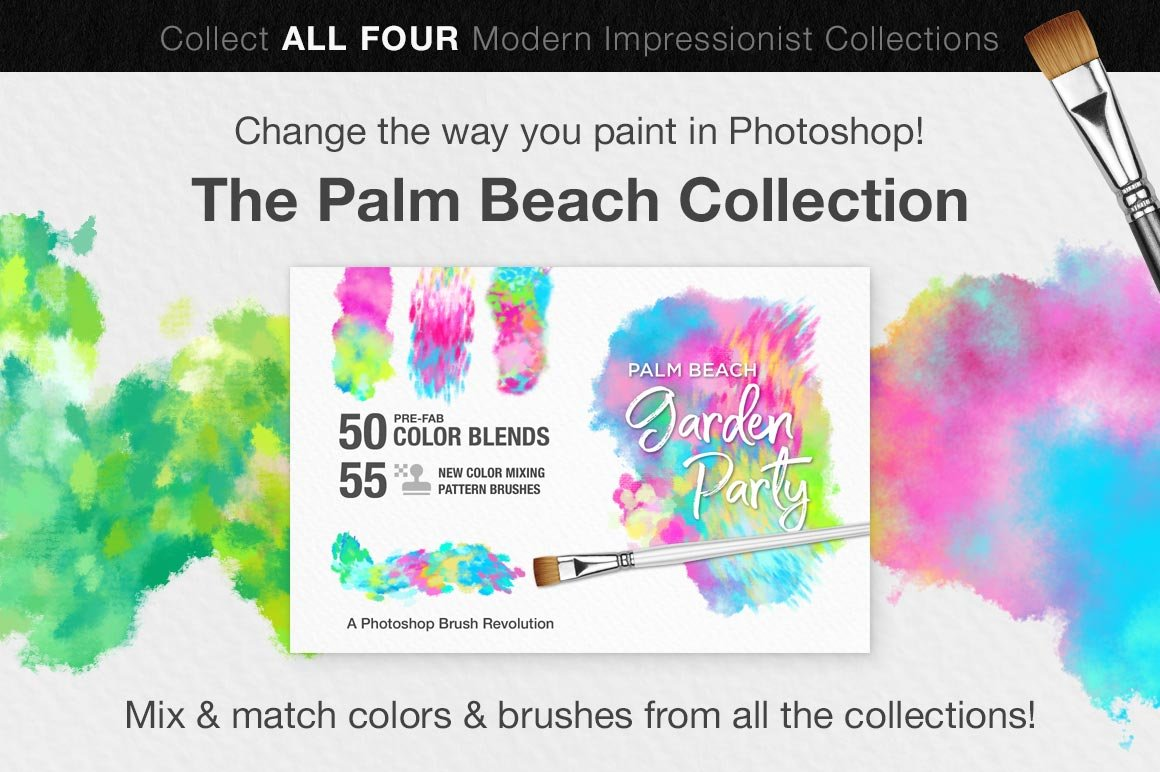 palm beach brush collection preview graphic
