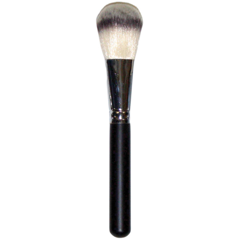 Kabuki Long Handled Powder Brush  -  his uniquely crafted brush offers soft, deluxe synthetic bristles to sweep mineral or pressed powder smoothly across the entire face. The tapered head allows you to reach all crevices of your face and highlight or cont