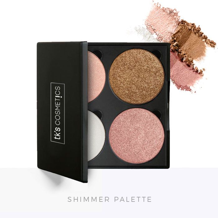 TK's Mineral Eyeshadow/Highlighter Shimmer Palette - TK's Lashes