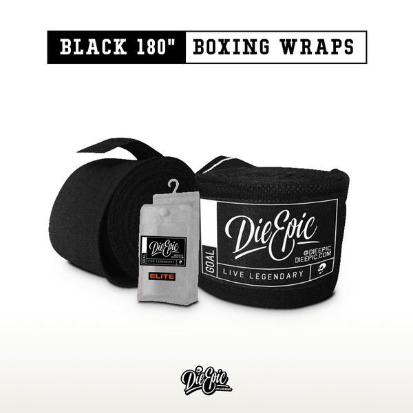 "Epic Black 180"" Boxing Wraps"
