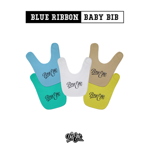Image of Baby Bib Blue Ribbon