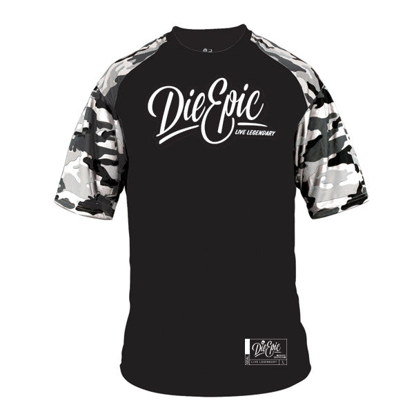 Epic Combat Camo Sleeve Sweat-Wicking Sport Tee