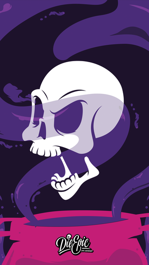 Skull Potion Phone Wallpaper (Free Digital Download)