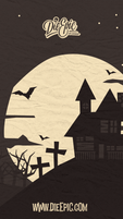 Haunted House Phone Wallpaper (Free Digital Download)