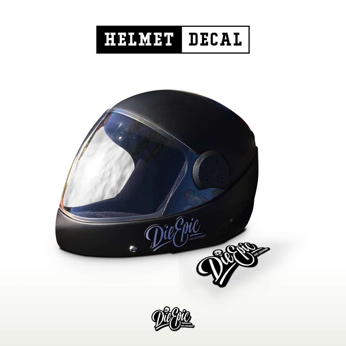 Die epic helmet decal · die epic helmet decal