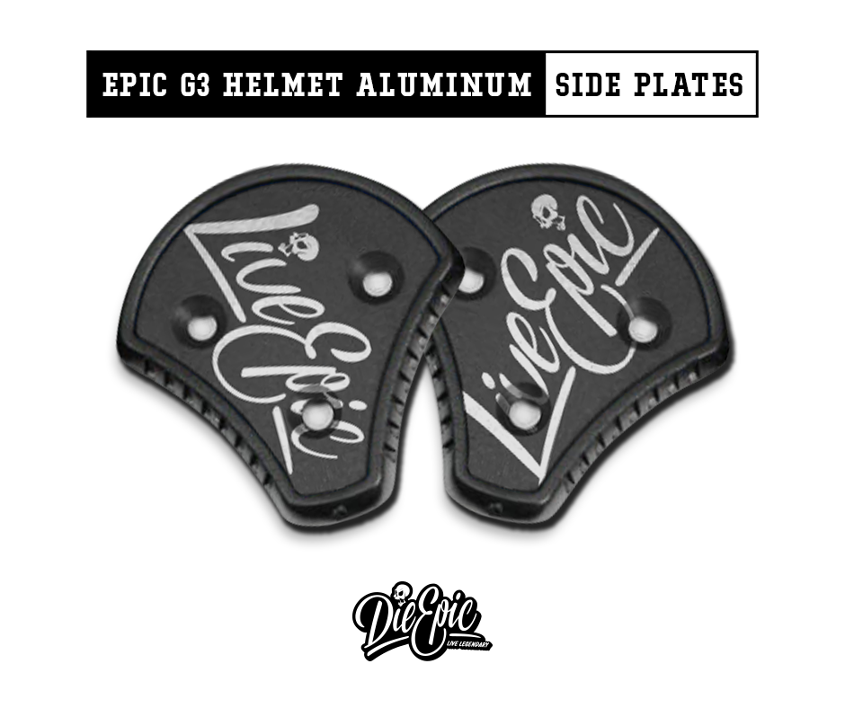 Live Epic Cookie G3 Helmet Aluminum Side Plates