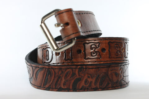 Die Epic Handmade One-of-a-Kind Leather Belt