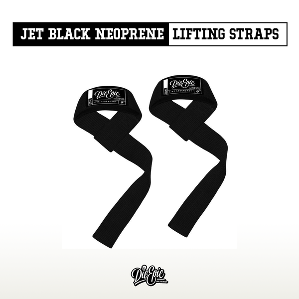Die Epic's Jet Black Neoprene Lifting Straps