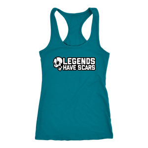 Legends Have Scars Ladies Racerback