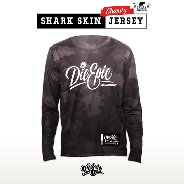 Shark Skin - Long Sleeve Epic Performance - Die Epic Jersey [Charity]
