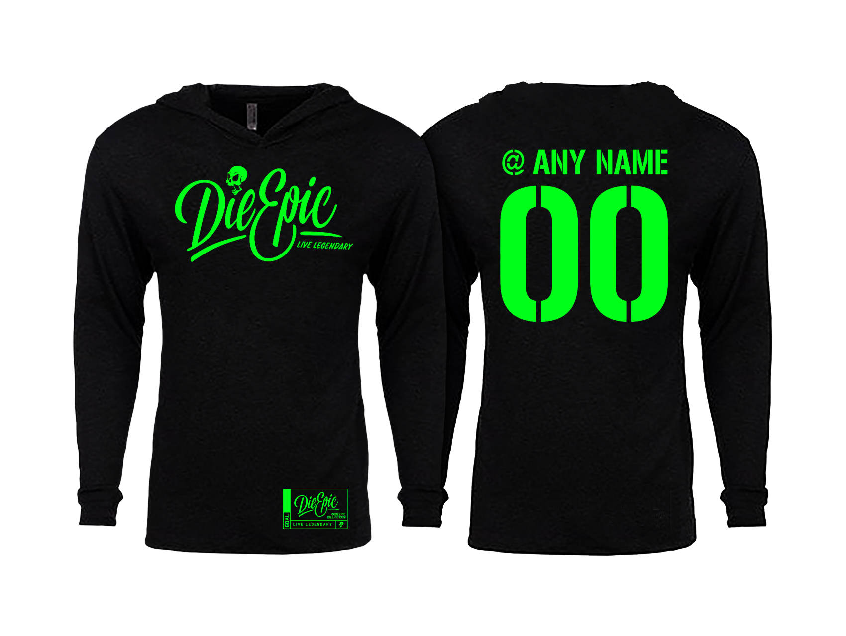 Personalized Thin Pullover Hoodies - Die Epic® Live Legendary Epic ... e62a060f4cad