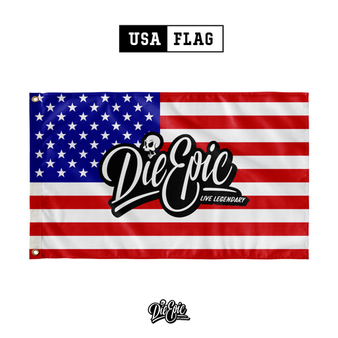 Image of Die Epic USA Flag - American Adrenaline