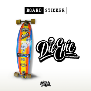 Die Epic Board Sticker (larger)