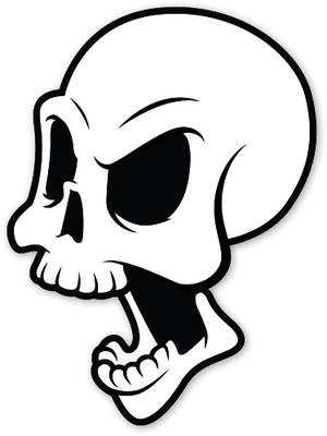 Die Epic Skull Sticker