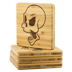 Skull Bamboo Coaster (4-piece set) - CelebrateEpic!