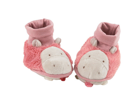 Moulin Roty - Hippopotamus Baby slippers Les Zazous