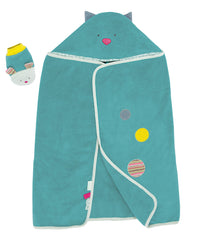 Moulin Roty - Hooded towel + mitt