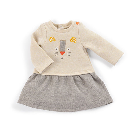 Moulin Roty - Leontine - beige and grey dress