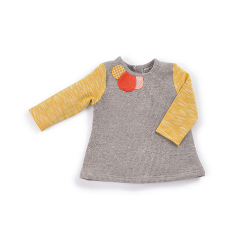 Moulin Roty - Lyzie - grey and mustard tunic