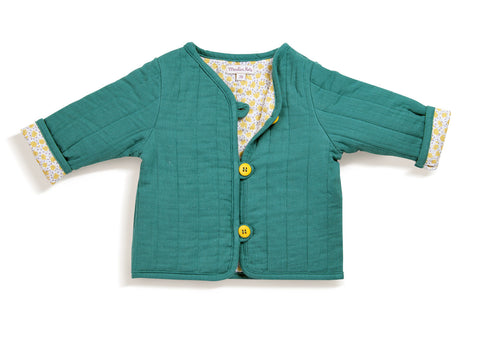 Moulin Roty - Mauran blue padded cardigan
