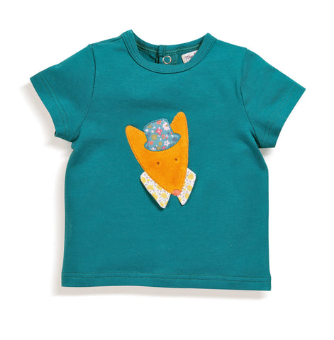 Moulin Roty - Minster blue wolf t-shirt