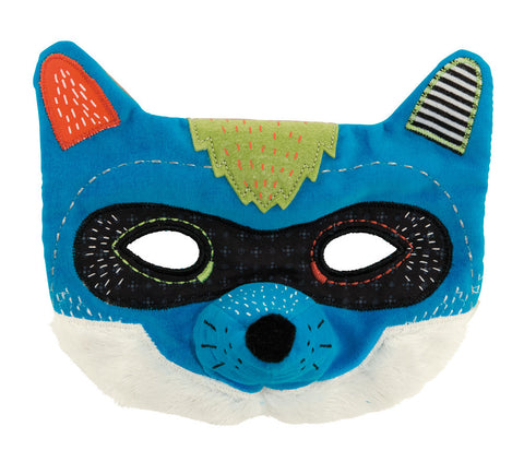 Moulin Roty - Filou the wolf mask,Fabric mask