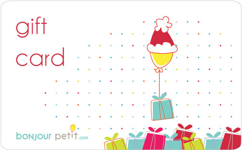 Bonjour Petit Holiday Gift Card