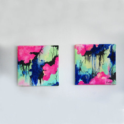 "Original ""Emotional Beauty Matter"" painting diptych"