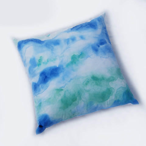 Watercolor Hand Painted Throw Pillow