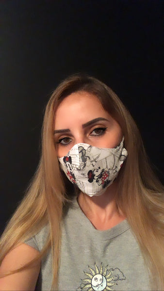 Minnie Mouse Face Mask - Unisex / Reusable / Washable