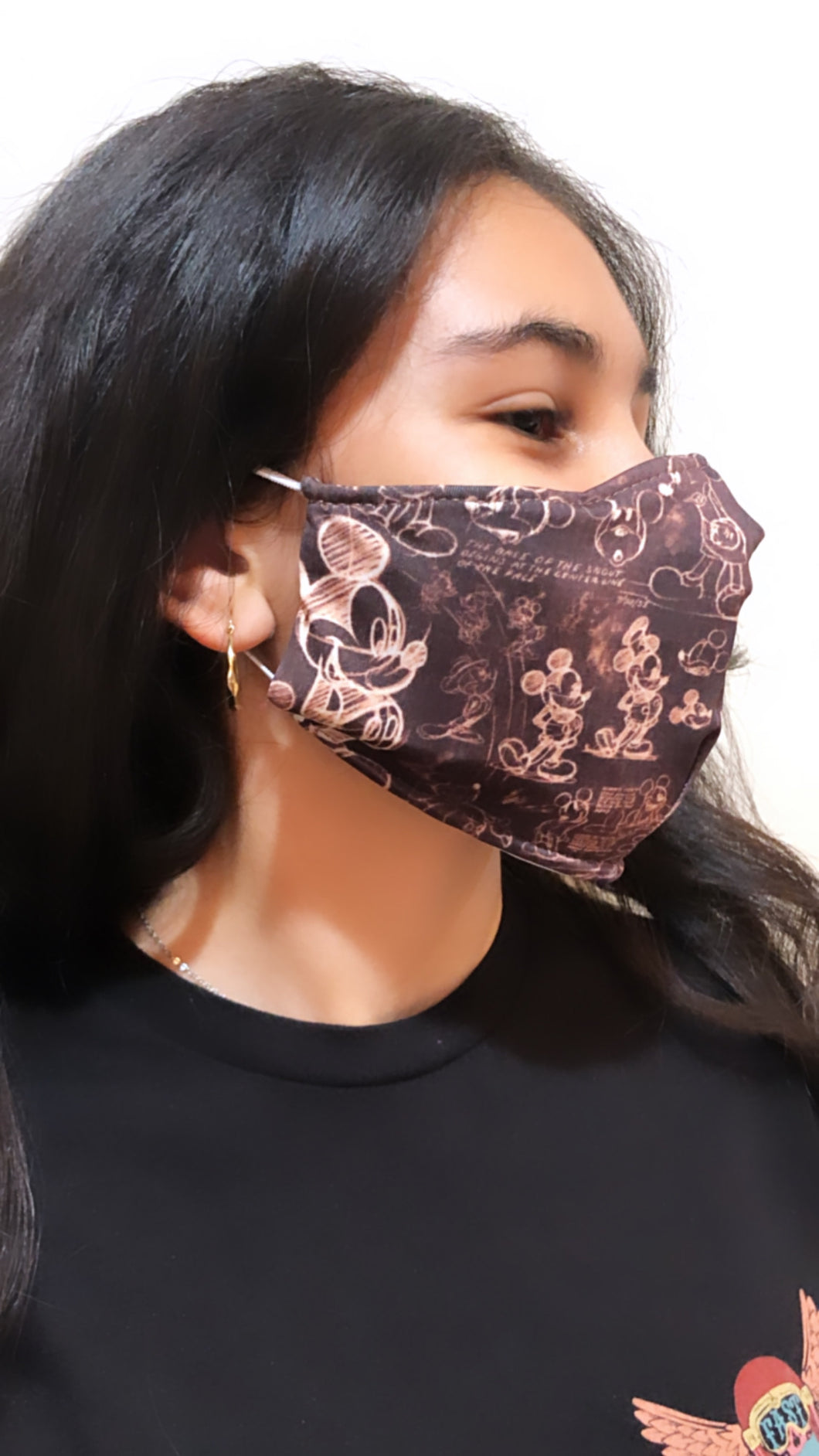 Mickey Mouse Face Mask - Unisex / Reusable / Washable