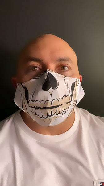 Skeleton Face Mask - Unisex / Reusable / Washable