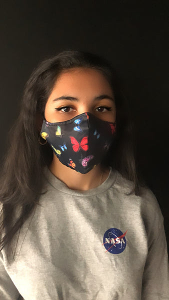 Butterfly Fancy Face Mask - Unisex / Reusable / Washable