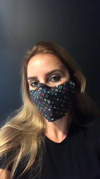 LV Designer Inspired Unisex Face Mask - Unisex / Reusable / Washable