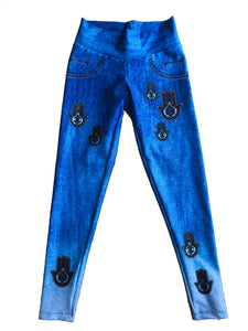 Hamsa  Hands  Protection Jean Leggings