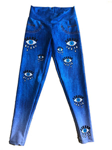 Evil Eyes Protection Jean Leggings