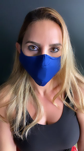 Blue  Face Mask - Unisex / Reusable / Washable