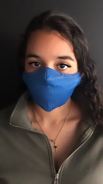 Blue Designer Inspired Unisex Face Mask - Unisex / Reusable / Washable