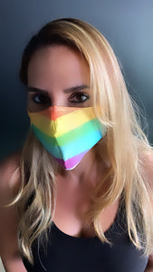 Rainbow Love Face Mask - Unisex / Reusable / Washable