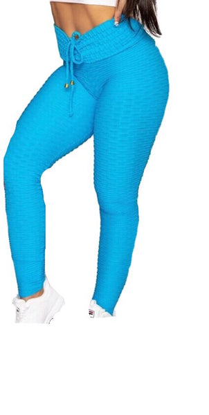 Bubble Booty Scrunch Ocean Blue Leggings
